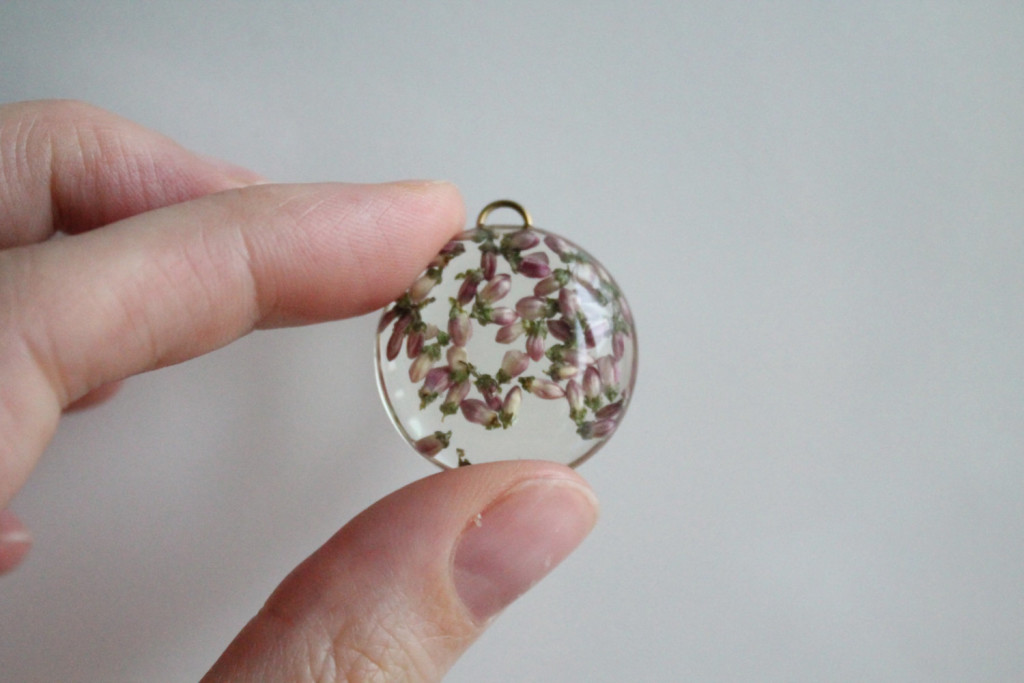 Pink Real Flower Necklace